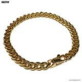 SEXTO - [써지컬스틸]S-00 chain bracelet GOLD 체인팔찌