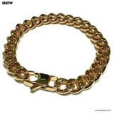 SEXTO - [써지컬스틸]S-04 chain bracelet GOLD 체인팔찌