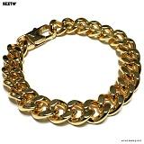 SEXTO - [써지컬스틸]S-06 chain bracelet GOLD 체인팔찌