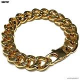 SEXTO - [써지컬스틸]S-08 chain bracelet GOLD 체인팔찌