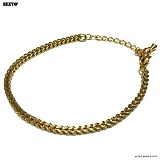 SEXTO - [써지컬스틸]W-006 chain bracelet GOLD 체인팔찌 16ss52