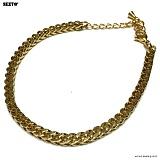 SEXTO - [써지컬스틸]W-007 chain bracelet GOLD 체인팔찌