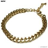 SEXTO - [써지컬스틸]W-008 chain bracelet GOLD 체인팔찌