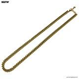 SEXTO - [써지컬스틸]W-008 chain necklace GOLD 목걸이