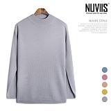 [뉴비스] NUVIIS - 심플 무지 반 목폴라 니트 (TR109KN) 스웨터