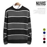 [뉴비스] NUVIIS - 유니크 단가라 니트 (TR108KN) 스웨터