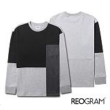 [리오그램]REOGRAM COLORBLOCK SWEATSHIRTS(gray)B720 컬러 블록 크루넥 스��셔츠 맨투맨