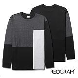 [리오그램]REOGRAM COLORBLOCK SWEATSHIRTS(black)B720 컬러 블록 크루넥 스��셔츠 맨투맨