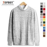 [탑보이] 컬러풀 꽈배기 라운드 니트 (DO079) 스웨터 크루넥