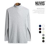 [뉴비스] NUVIIS - 골지 긴팔 목폴라 티셔츠 (SM013TS) 터틀넥