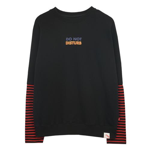 [에이비로드]ABROAD - Coloring MTM (black) 맨투맨