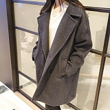 [에이비로드]ABROAD - Premium Over Coat (dark gray) 오버핏 코트