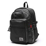 [스타일플랜] STYLEPLAN VIBE leather BACK PACK (BLACK) 바이브 레더 백팩 블랙 가방 벙커백