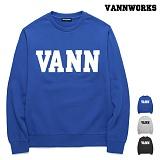 [특가할인]밴웍스 VANN 패치워크 기모 맨투맨(VNAFTS402)_3colors 크루넥 스��셔츠