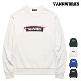 [특가할인]밴웍스 박스 로고 기모 맨투맨(VNAFTS405)_4colors 크루넥 스��셔츠