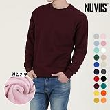[뉴비스] NUVIIS - 남녀공용 심플 기모 맨투맨 티셔츠 (SO015MT) 스웨트셔츠 크루넥