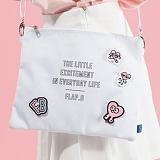 [플랩비]FLAPB - B Pouchi (WHITE) 가방 파우치 크로스백 미니백 클러치백