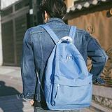 [플랩비]FLAPB - String Basic Backpack (SKY BLUE) 백팩 가방 데이백 스탠다드 무지백팩
