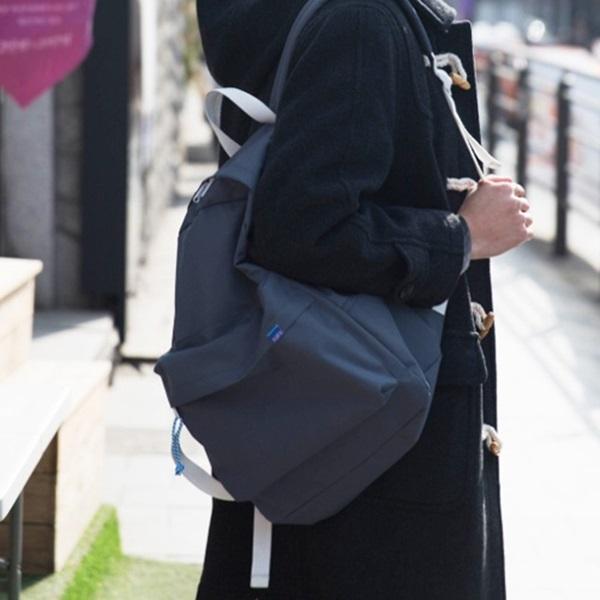 #클리어런스 [플랩비]FLAPB - String Basic Backpack (DK.GRAY) 백팩 가방 데이백 스탠다드 무지백팩