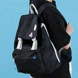 [플랩비]FLAPB - 2wo Webbing Backpack (BLACK) 백팩 가방 데이백 스탠다드 무지백팩