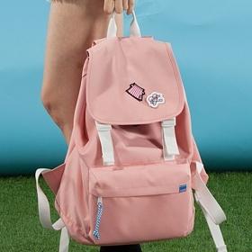 [플랩비]FLAPB - 2wo Webbing Backpack (PINK) 백팩 가방 데이백 스탠다드 무지백팩