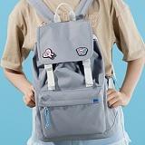 [플랩비]FLAPB - 2wo Webbing Backpack (GRAY) 백팩 가방 데이백 스탠다드 무지백팩
