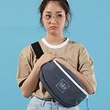 [플랩비]FLAPB - String Basic Waistbag (DK.GRAY) 가방 힙색 웨이스트백