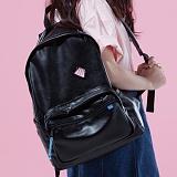 [플랩비]FLAPB - Basics Leather Backpack (BLACK) 백팩 가방 데이백 스탠다드 무지백팩
