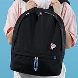 [플랩비]FLAPB - Hidden Pocket Backpack (BLACK) 백팩 가방 데이백 스탠다드 무지백팩