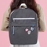 [플랩비]FLAPB - Demilune Backpack (GRAY) 백팩 가방 데이백 스탠다드 무지백팩