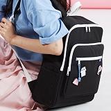 [플랩비]FLAPB - Soft Squares Backpack (BLACK) 백팩 가방 데이백 스탠다드 무지백팩