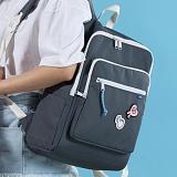 [플랩비]FLAPB - Soft Squares Backpack (GRAY) 백팩 가방 데이백 스탠다드 무지백팩