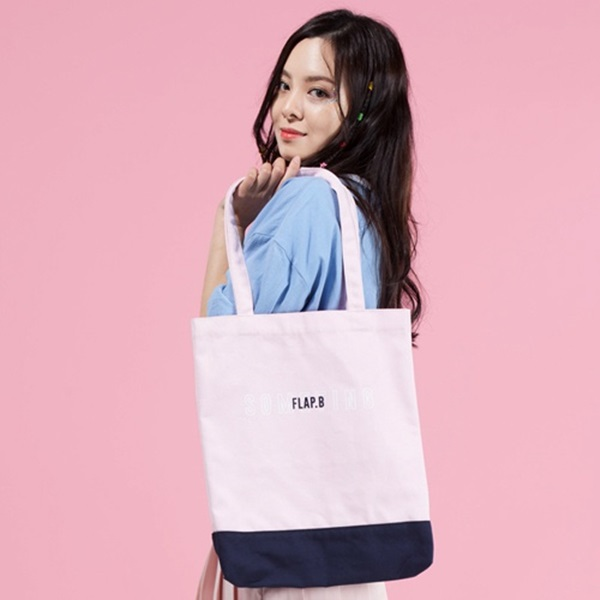 플랩비 Two Tone Eco Bag (PINK) 에코백