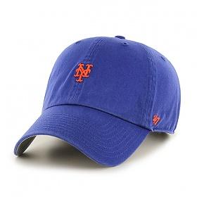 47브랜드 - MLB모자 뉴욕 메츠 로얄 미니로고 볼캡 야구모자