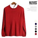 뉴비스 - 클래식 사각 니트 (MD026KN) 스웨터