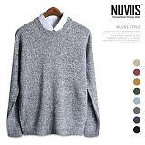 뉴비스 - 심플 보카시 라운드 니트 (MD005KN) 스웨터