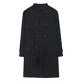 [에이비로드]ABROAD - Classic Over Trench Coat (black) 클래식 오버 트렌치 코트