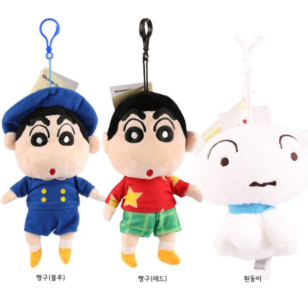 키키바바 - 짱구 흰둥이 인형 캐릭터 키링 가방고리