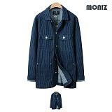 [모니즈]MONIZ 워크 스트라이프 청자켓 JKD027