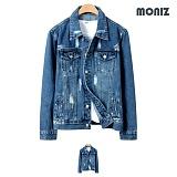 [모니즈]MONIZ 디스트로이드 페인트 중청자켓 JKD020