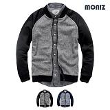 [모니즈]MONIZ 니트 배색나그랑 블루종 BJP081
