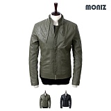 [모니즈]MONIZ 절개 레더자켓 JKL107
