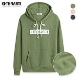 [테너티] 사선 박스 포켓 기모 후드 티셔츠 (TN015) 후드티