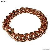 SEXTO - [써지컬스틸]S-06 chain bracelet ROSE GOLD 체인팔찌