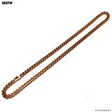 SEXTO - [써지컬스틸]S-02 chain necklace ROSE GOLD 체인목걸이