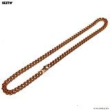 SEXTO - [써지컬스틸]S-04 chain necklace ROSE GOLD 체인목걸이