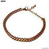 SEXTO - [써지컬스틸]W-007 chain bracelet ROSE GOLD 체인팔찌