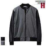 [해리슨]HARRISON - 분또 가죽 배색 블루종 RT1028 항공 자켓