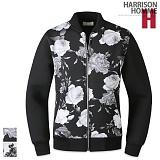 [해리슨]HARRISON - 장미 배색 블루종 RT1045 항공 자켓