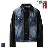 [해리슨]HARRISON - 레더 믹스 데님 자켓 SU1009 재킷
